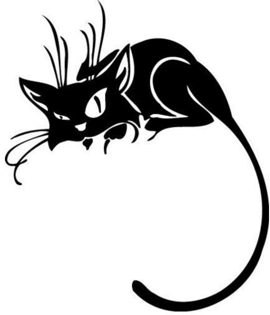 Кошки черно-белые рисунок, дню