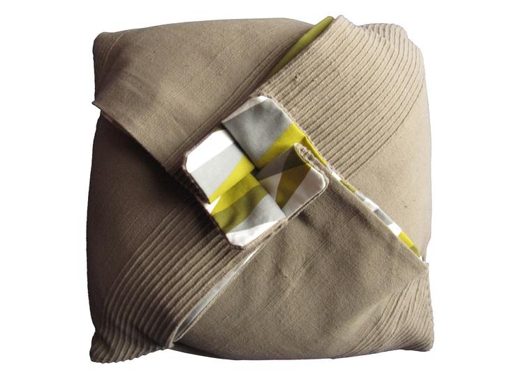 My #Origami #pillows / La mia collezione di #cuscini origami: Quadrifoglio