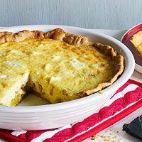 Leek & Goat Cheese Tart | http://www.rachaelraymag.com/recipe/leek-goat-cheese-tart/