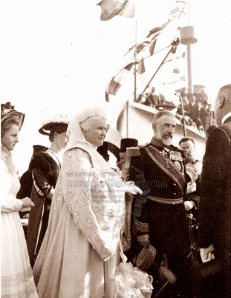 Carol I și Regina Elisabeta. Constanța.