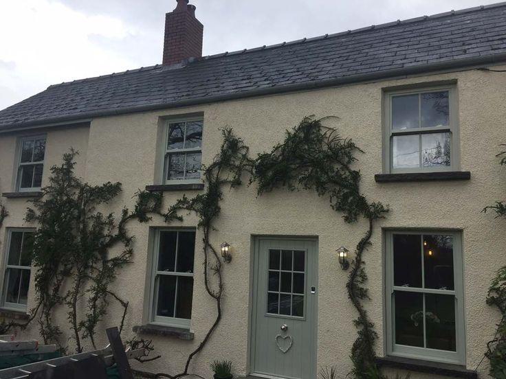 Painswick Sash Windows installation in Wales, beautiful uPVC Sash Windows