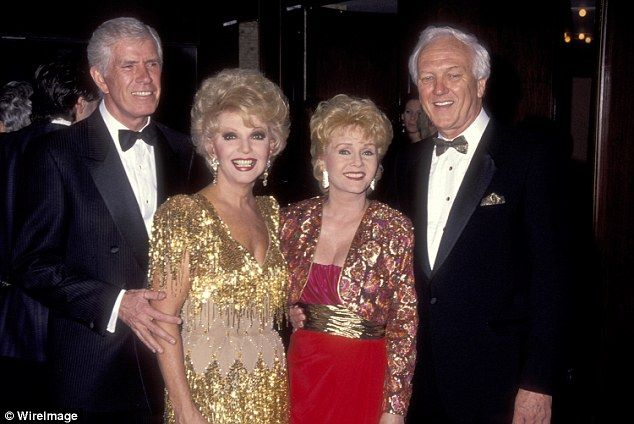 In 1984 she married her third husband, real estate developer Richard Hamlett, and they bought a Las Vegas hotel and casino, where she also performed. Pictured above: Actress Ruta Lee and husband Webster Lowe, Jr. and  Reynolds and husband Richard Hamlett together in 1991