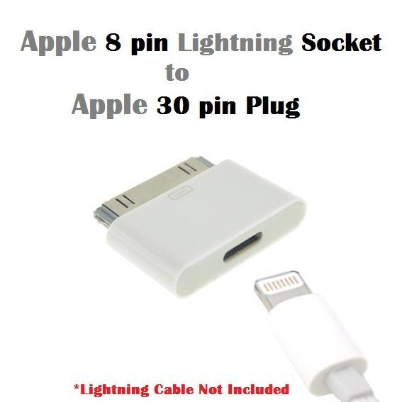 Lightning 8 Pin Female To 30 Pin Male Adapter For Iphone