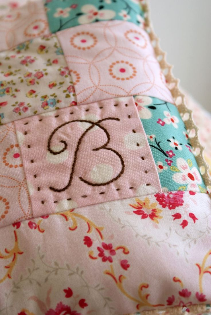 Monograms on baby things for gifts.
