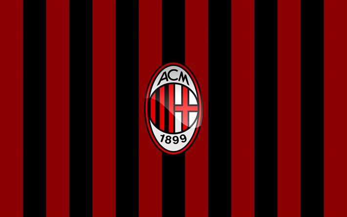 Hämta bilder AC Milan, clours, flagga, fotboll, Seria A ...