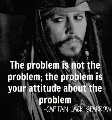 RevAlexShawGoogle+ Shares Johnny Depp's Captain Jack Sparrow's quote: THE PROBLEM IS NOT