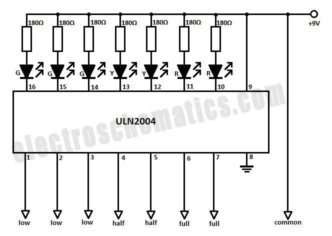 circuit diagram arduino water sensor