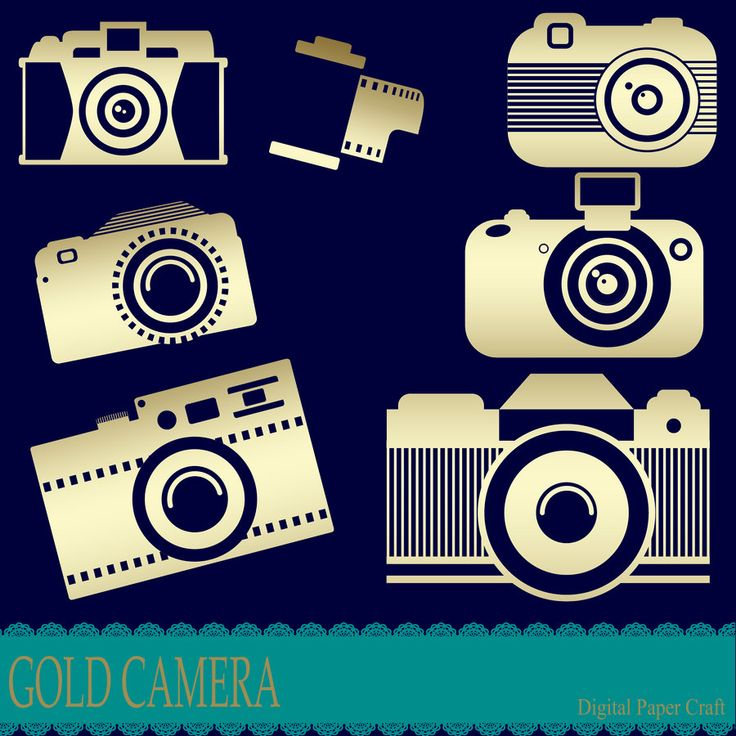 Gold Camera Clipart, Instant Download, Tag Clipart, Photo Clipart, assorted Camera, Gold Clipart, Digital File by DigitalPaperCraft on Etsy