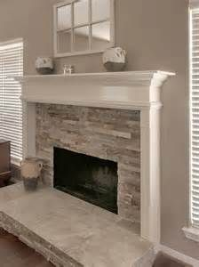 fireplace with stacked stone accents bing images