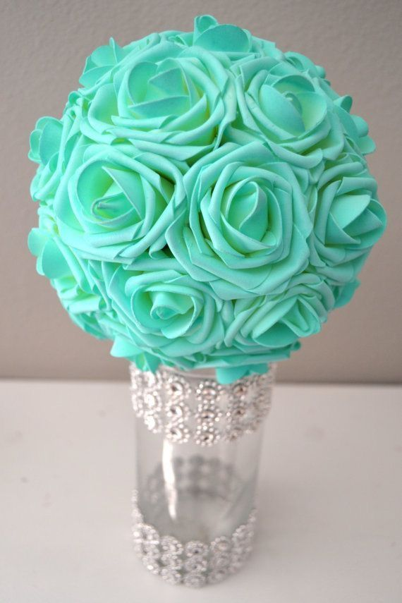 Turquoise | minty | wedding bouquet
