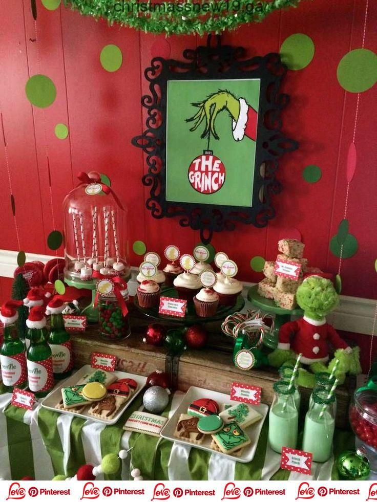Christmass New The Grinch Christmas Holiday Party Ideas Photo 3 Of 17 Catch My Party Ca Whoville Christmas Kids Christmas Party Family Christmas Party