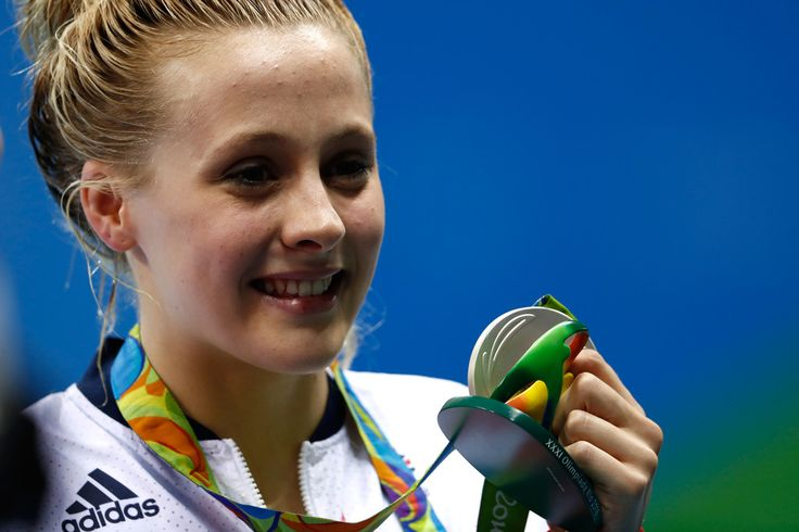 Silver medalist Siobhan-Marie O'Connor of Great Britain poses during the medal ceremony for the Women's 200m Individual Medley Final on Day 4 of the Rio 2016 Olympic Games at the Olympic Aquatics Stadium on August 9, 2016 in Rio de Janeiro, Brazil.