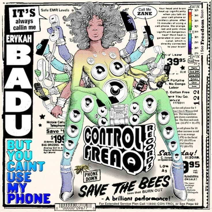 """**STREAM ONLY** New project from Erykah Badu """"But U Caint Use My Phone"""" available for stream and purchase on APPLE MUSIC (standby for link)"""