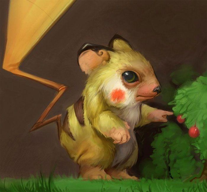 PikachuGeek, Realistic Pokemon, Real Life, Pokémon, Realistic Pikachu, Illustration, Art, Gavin Mackey, Animal