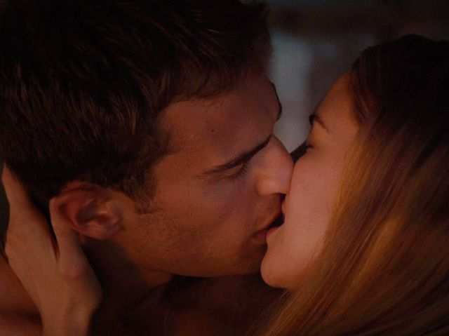 Where do Tris and Tobias/Four have their first kiss?