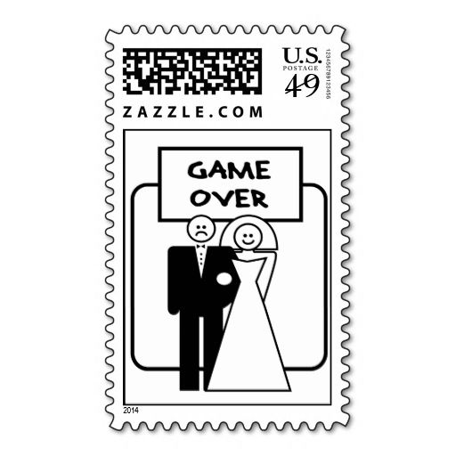 301 best bachelor party postage stamps images on pinterest game over marriage postage stamp this is a fully customizable business card and available on several paper types for your needs you can upload your own reheart Choice Image