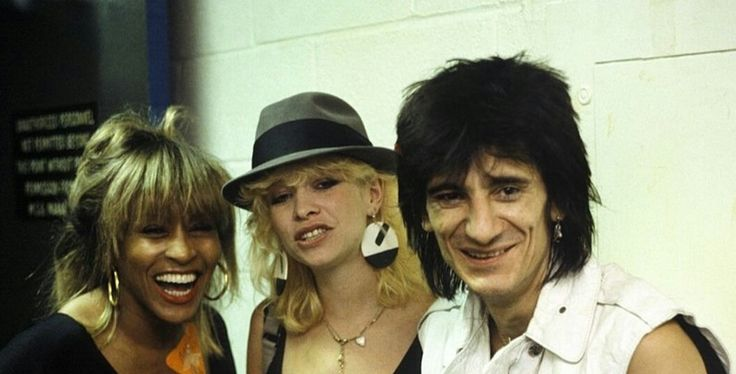 Tina Turner with Jo and Ronnie Wood