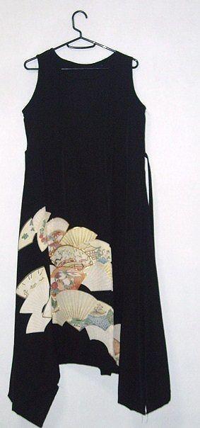 着物リメイク☆留袖リメイク♪扇が素敵な留袖イレギュラーヘム♪ワンピース♪ハンドメイド☆ -----------------------------------... ハンドメイド、手作り、手仕事品の通販・販売・購入ならCreema。