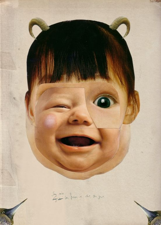 "Saatchi Online Artist: Kerstin Stephan; Photomontage, Assemblage / Collage ""little Monster"""