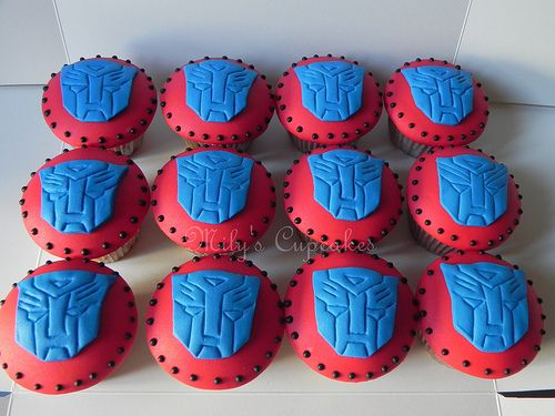 Autobots-Transformers Cupcakes | Flickr - Photo Sharing!
