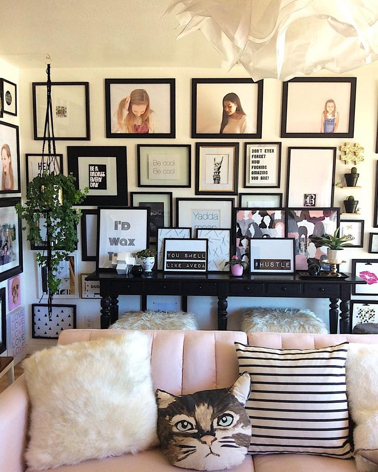 """363 Likes, 10 Comments - Designs by Tamara Lee (@tlee79) on Instagram: """"Loving these extra prints layered against my gallery wall.. all I know is the salon is lookin fly…"""""""