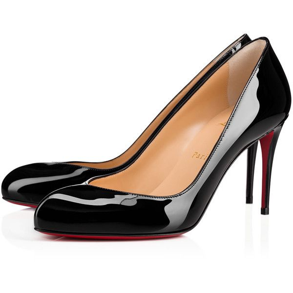 Christian Louboutin Breche (2,185 PEN) ❤ liked on Polyvore featuring shoes, pumps, black, black patent shoes, high heel shoes, high heel pumps, pointed-toe pumps and pointy-toe pumps
