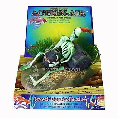 Amazon.com: Penn Plax Action Skeleton w/Jug Aquarium Ornament: Pet Supplies
