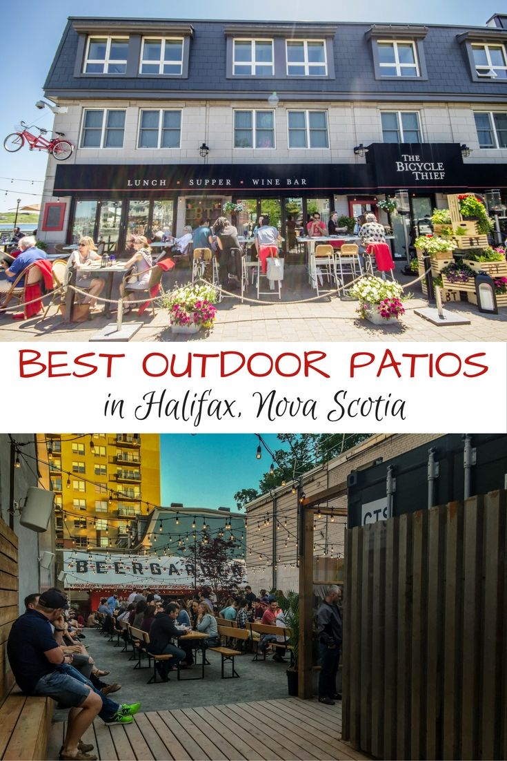 Fun outdoor patios in Halifax, Nova Scotia, Canada.