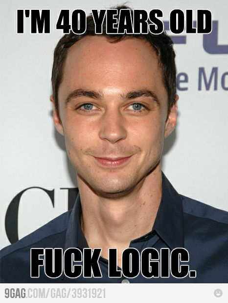 My life is ruined: Celebrity Style, Fucking Logic, Sheldon Cooper, Big Bangs Theory, Funny, 40 Years, Quality, Jim Parsons, Jimparson