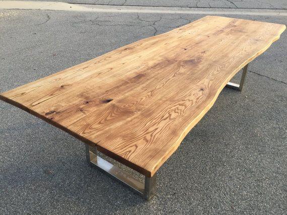 Custom Dining Table    Live Edge Slab Table