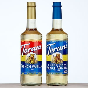 Sugar free Torani syrup (vanilla & raspberry are my favorites) + Soda Stream sparkling water = delicious beverage!