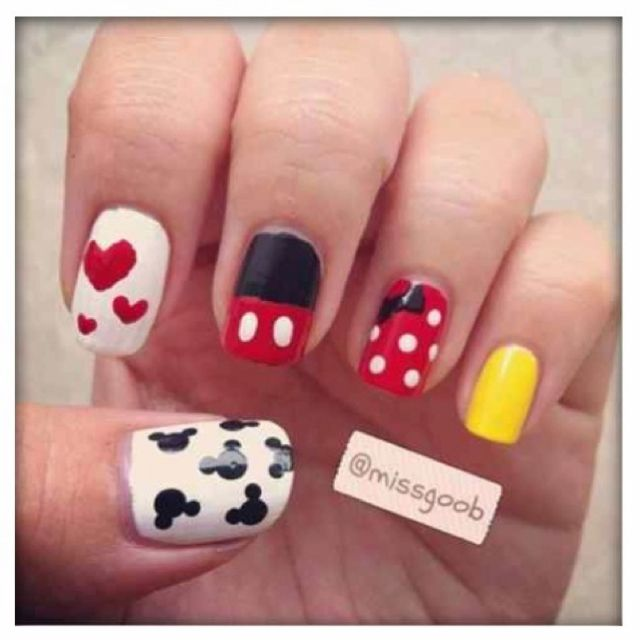 Mickey Mouse Nails: Nail Polishes And Art