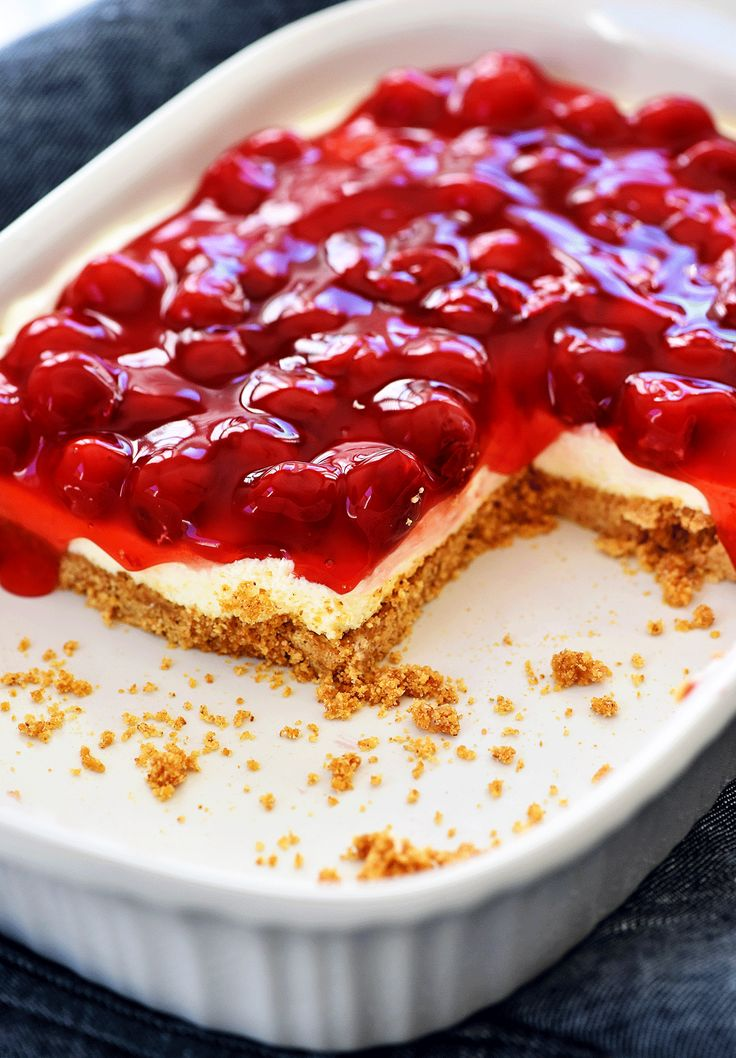 With all that talk about food for the Super Bowl last week I totally forgot Valentine's day is coming soon! I s…   Cherry delight dessert ...