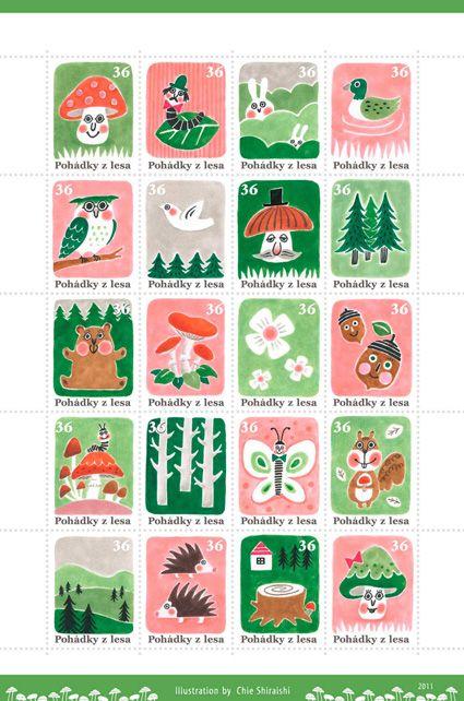 森のおはなし (切手展作品)