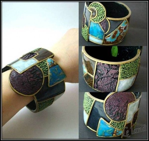 """""""Cosmobo"""" Polymer cuff.  This blog site is translated from Russian and has interesting posts."""