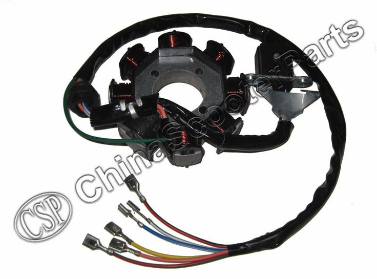 Magneto Stator 8 Pole Coil 6 Wire 200C 250CC CG Bashan Shineray Jinling Taotao Dirt Pit Bike ATV Quad Parts