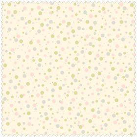 SALE Paisley Romance PINK/Green/Grey Dot Fabric by OakHillFabrics