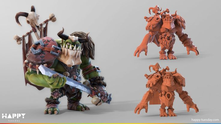 ArtStation - Orc for Realmforge, Happy Tuesday