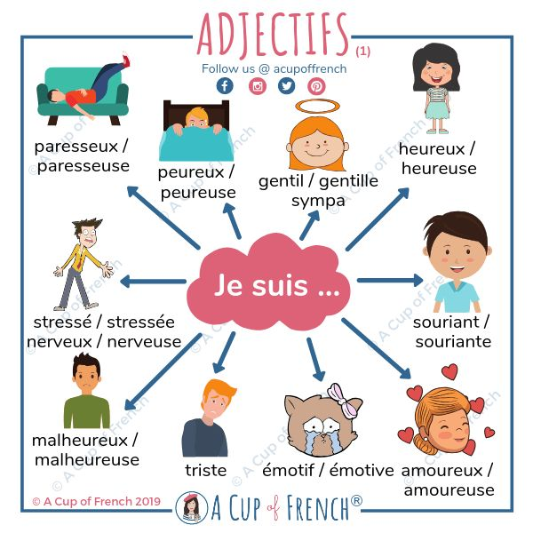 Blog • French vocabulary • French adjectives