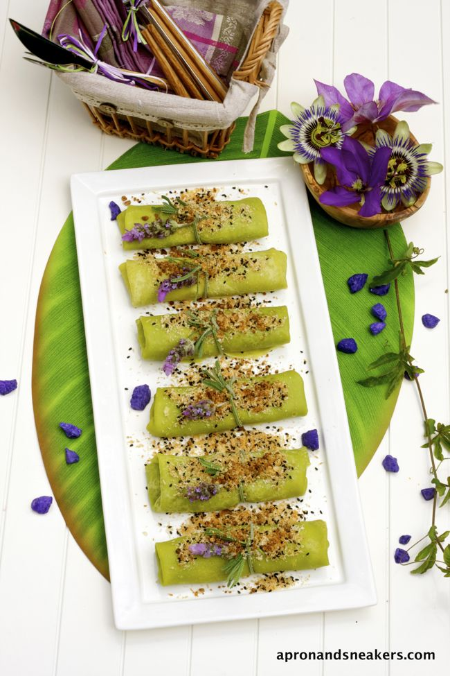 Apron and Sneakers - Cooking & Traveling in Italy and Beyond: Coconut Pandan Crepes