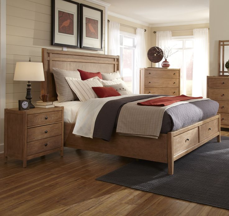 American Woodcrafters Natural Elements 2 Piece Storage Panel Bedroom Set in Soft Driftwood from Natural Elements Collection #panelbed #BedRoomSet #BedroomDesign #BedroomDecor #Headboard #HomeDecor #interiordesign #InteriorDesigner #HomeDecorator #furniture #efurnituremart