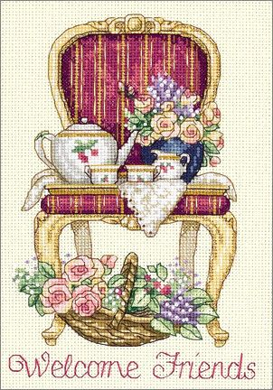 Afternoon Tea Cross Stitch!