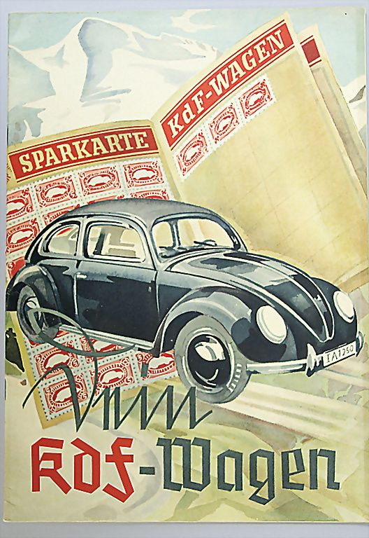 KDF - Wagen Volkswagen stamp program each working class person could afford a…