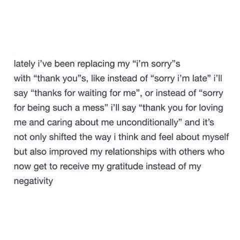 """Thank You"" Instead of ""I'm Sorry"""