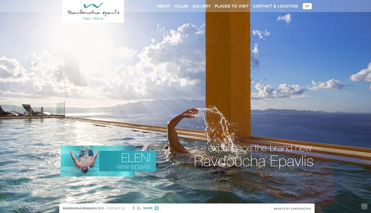 Visit www.ravdouchaepavlis.gr to check out our latest website release made especially for the luxurious villas in Chania, Ravdoucha Epavlis and let us know what you think. If you feel like it, you can read more about this project on our case study page on our website at http://www.x2interactive.gr/ravdoucha-epavlis.