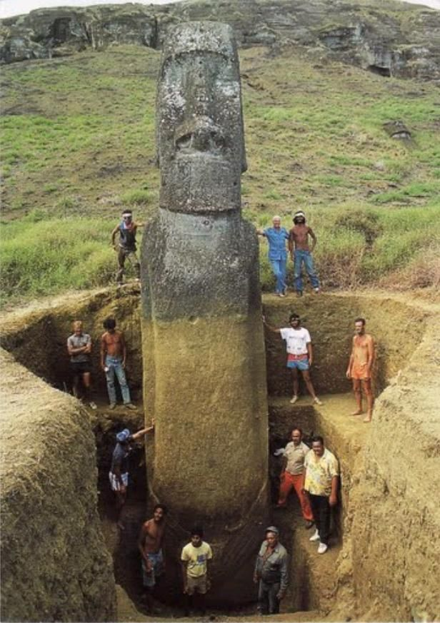 Easter island heads have full bodies!