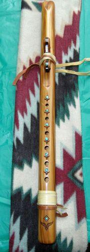 "High Spirit Native American Style Flute ""Am"" Beautiful Cedar Cabochons | eBay"