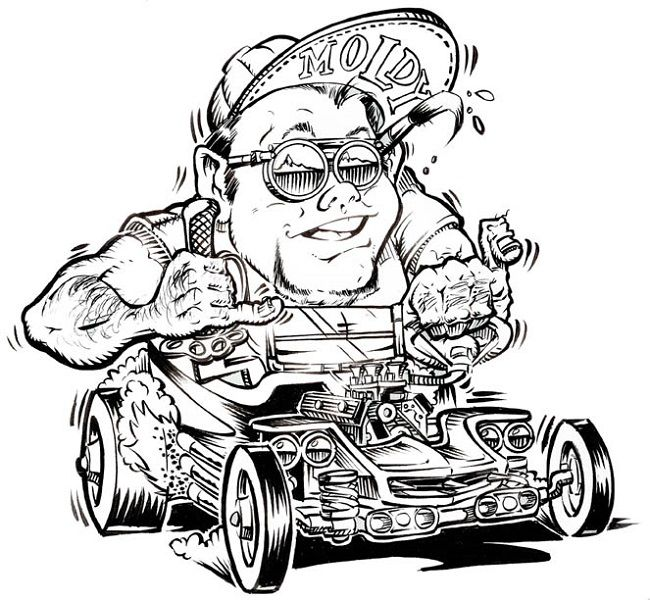 hotrod coloring pages - photo#23