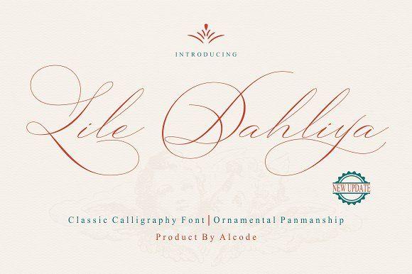 Lile Dahliya by Alcode on @creativemarket