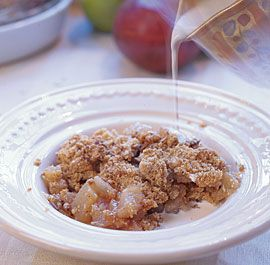 Pear & Brown Sugar Crisp - Fine Cooking Recipes, Techniques and Tips.  Made this with gluten free flour this week and it was delicious!!